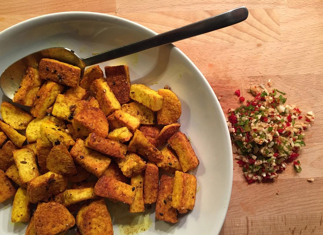 Gebratener Paneer – Gruß aus Indien   Gemüsewerkstatt